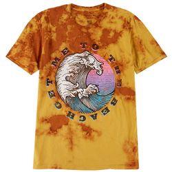 Basics Mens Original Black Beach Trip Tie Dye T-Shirt