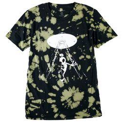 Basics Mens Original Black Lifted Tie Dye Graphic T-Shirt
