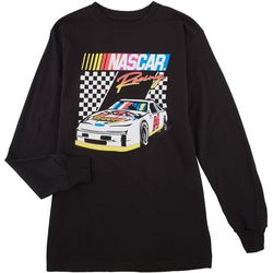 Nascar Mens Solid Graphic Long Sleeve T-Shirt