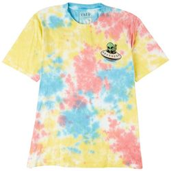 Visitor Mens Embroidered Alien Tie-Dye T-Shirt