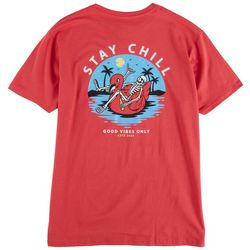 Visitor Mens Stay Chill Graphic T-Shirt