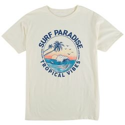 Visitor Mens Surf Paradise Tropical Vibes T-Shirt