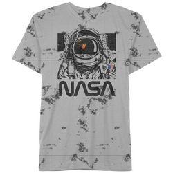 NASA Mens Tie-Dye Graphic T-Shirt