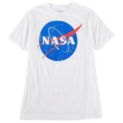 NASA Mens Solid Graphic Logo T-Shirt