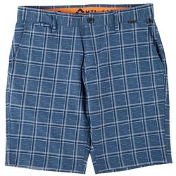 Projek Raw Mens Grid Print Hybrid Shorts