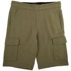 Mens Stretch Knit Cargo Shorts