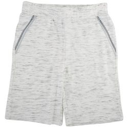 Hollywood Mens Heathered Stretch Knit Cargo Shorts