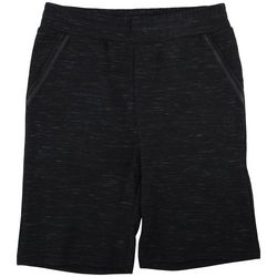 Hollywood Mens Heathered Stretch Knit Cargo Shorts