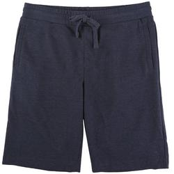 Mens Stretch Knit Heathered Shorts