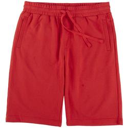 Mens Stretch Knit Solid Shorts
