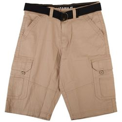 Company 81 Mens Solid Twill Belted Cargo Shorts