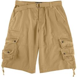 Mens Solid Twill Cargo Shorts