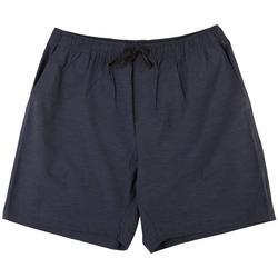 Mens Solid Hybrid Pull On Shorts