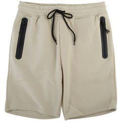 BROOKLYN CLOTH Mens The Knit Solid Zip Pocket Fleece Shorts