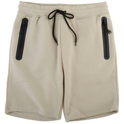 Mens The Knit Solid Zip Pocket Fleece Shorts