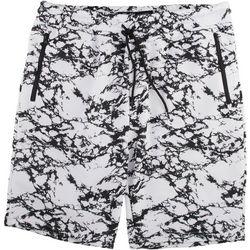 BROOKLYN CLOTH Mens Marble Print Solid Fleece Shorts