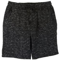 Mens Static Print Fleece Shorts