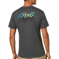 O'Neill Mens Scrawl Short Sleeve Heathered T-Shirt