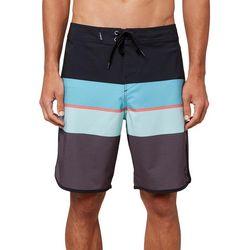 O'Neill Mens Four Square Stretch Striped Boardshorts