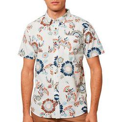 O'Neill Mens Floral Button Down Short Sleeve Shirt