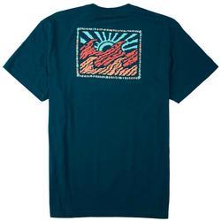 Mens Short Sleeve Crayon Wave T-Shirt