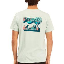 Billabong Mens Crayon Wave Washed Short Sleeve T-Shirt