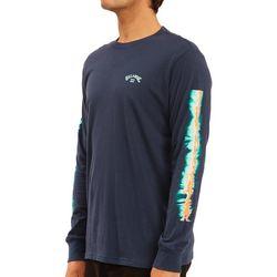 Billabong Mens Tie Dye Sleeve Long Sleeve T-Shirt