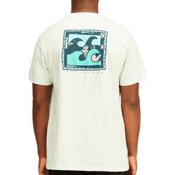 Mens Crayon Wave Short Sleeve T-Shirt