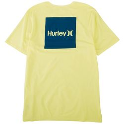 Hurley Mens One & Only Solid Box Logo Short Sleeve T-Shirt