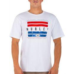 Hurley Men Hurley Washed Bars Short Sleeve T-Shirt
