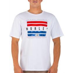 Men Hurley Washed Bars Short Sleeve T-Shirt