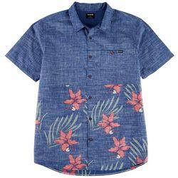 Hurley Mens Malibu Printed Colorblock Casual Shirt
