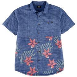 Mens Malibu Printed Colorblock Casual Shirt