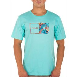 Hurley Mens Everyday Double Up Tropics Washed T-Shirt