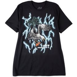 Lost Mens Screaming Seagull Short Sleeve Graphic T-Shirt