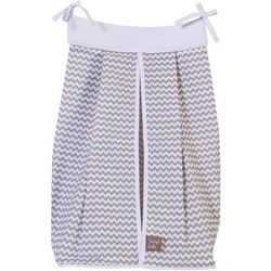 Trend Lab Dove Grey Diaper Stacker