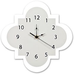 Trend Lab Dove Grey Quatrefoil Wall Clock