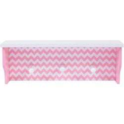 Trend Lab Pink Chevron Wall Shelf