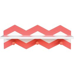 Trend Lab Coral Chevron Wall Shelf
