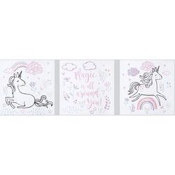 Trend Lab Magical Unicorn 3-pc. Canvas Wall Art Set
