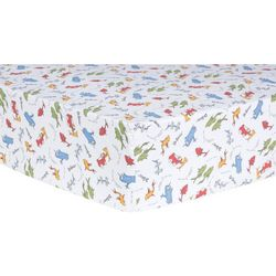 Trend Lab Dr. Seuss One Fish, Two Fish Fitted Crib Sheet