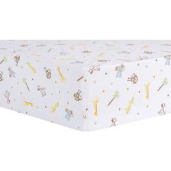 Trend Lab Jungle Fun Animals Fitted Crib Sheet