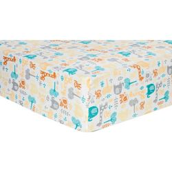 Trend Lab Lullaby Zoo Deluxe Flannel Fitted Crib