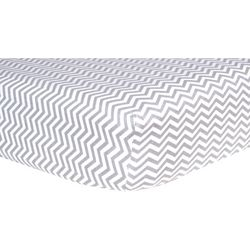 Trend Lab Grey Chevron Deluxe Flannel Fitted Crib Sheet