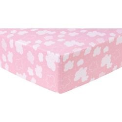 Trend Lab Pink Clouds Deluxe Flannel Fitted Crib Sheet