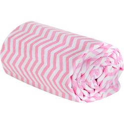 Trend Lab Pink Chevron Deluxe Flannel Swaddle Blanket