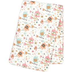 Trend Lab Playful Elephants Flannel Swaddle Blanket