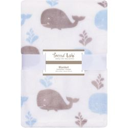 Trend Lab Whales Plush Baby Blanket