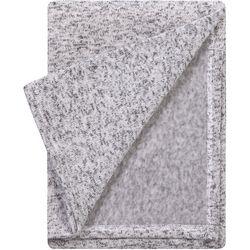 Trend Lab Heathered Grey Sweatshirt Knit Baby Blanket