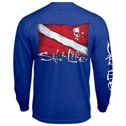 Salt Life Mens Dive Flag Long Sleeve T-Shirt